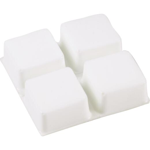 Do it 3/4 In. Square White Furniture Bumpers,(12-Count)