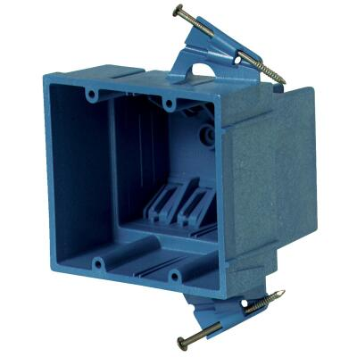 Carlon SuperBlue 2-Gang Thermoplastic Molded Wall Box