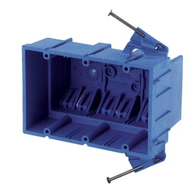 Carlon SuperBlue 3-Gang Thermoplastic Molded Wall Box