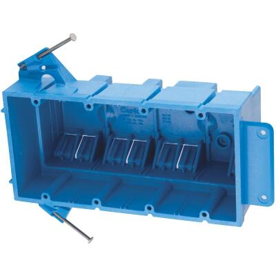 Carlon SuperBlue 4-Gang Thermoplastic Molded Wall Box