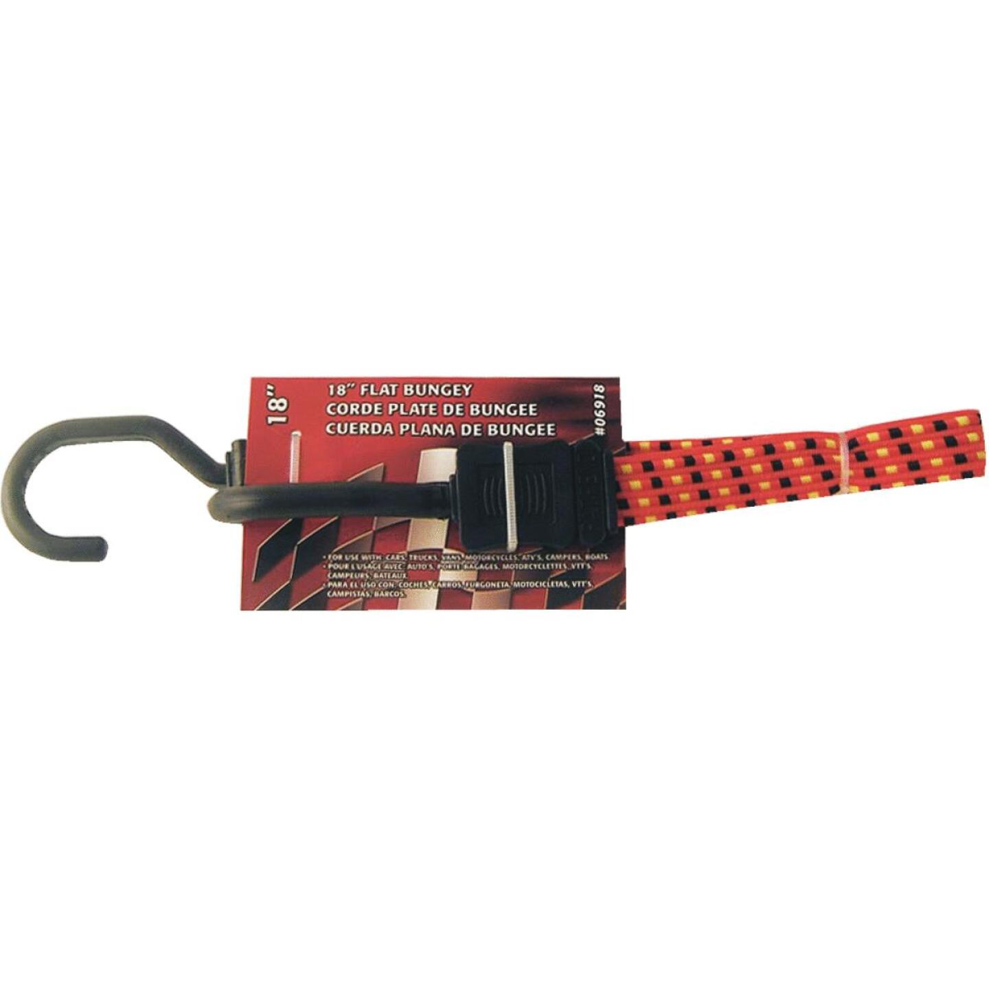 Erickson 3/4 In. x 18 In. Flat Bungee Cord, Red/Black Image 1