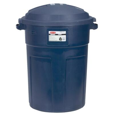 Rubbermaid Roughneck 32 Gal. Blue Trash Can with Lid