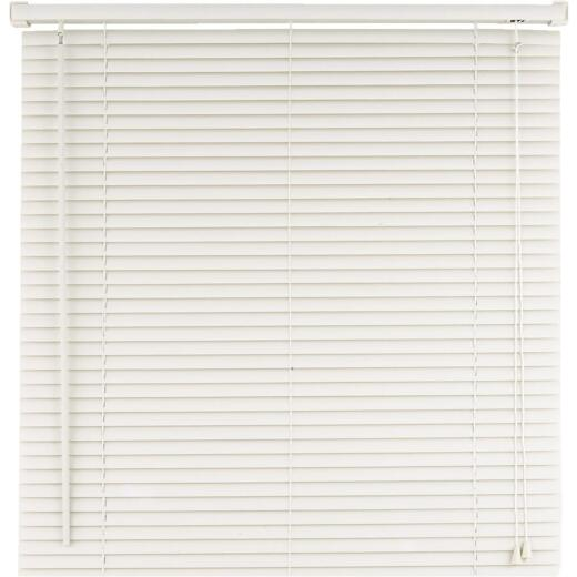 Home Impressions 23 In. x 42 In. White Vinyl Light Filtering Corded Mini-Blinds