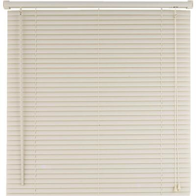 Home Impressions 39 In. x 64 In. Alabaster Vinyl Light Filtering Corded Mini-Blinds