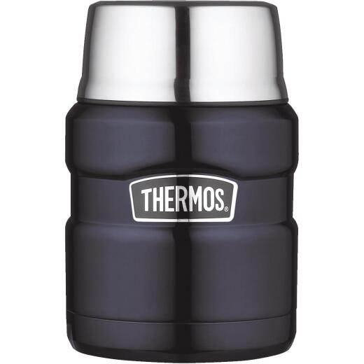 Thermos Stainless King 16 Oz. Midnight Blue Stainless Steel Thermal Food Jar