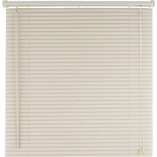 Home Impressions 24 In. x 64 In. Alabaster Vinyl Light Filtering Corded Mini-Blinds