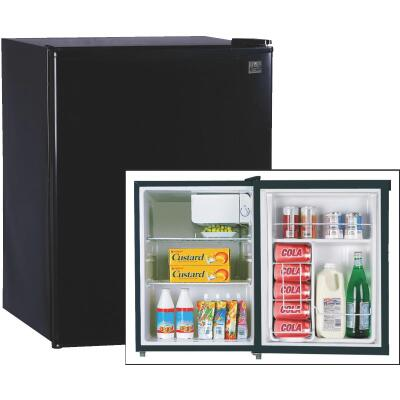 Perfect Aire 2.4 Cu. Ft. Black Compact Refrigerator