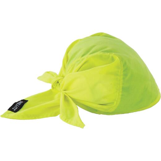 Ergodyne Chill-Its Triangle Hat High-vis Lime Cooling Bandana